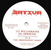YT & The Innerheart Band - Billionaire / version / Plant More / version (Satica Records) 12""